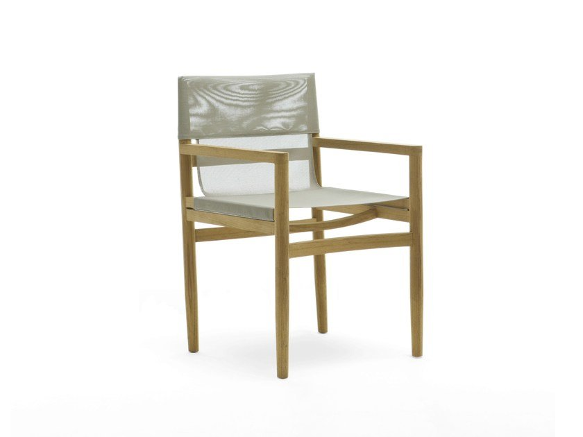 Teak garden chair with armrests ROAD | Chair with armrests by RODA