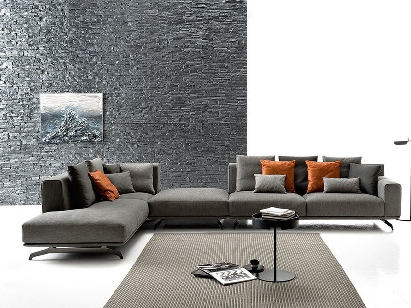 Sectional Fabric Sofa Dalton Soft By Ditre Italia Design