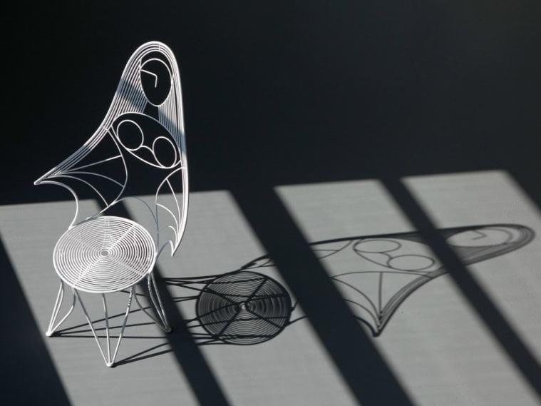 Cadeira em aço para jardim com braços IVANA | Cadeira by Talenti