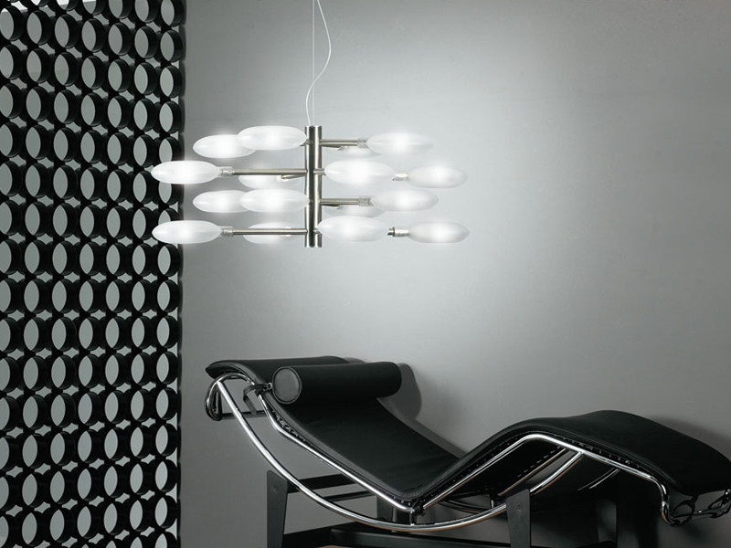 Glass pendant lamp LOLLYPOP | 16L by Lucente