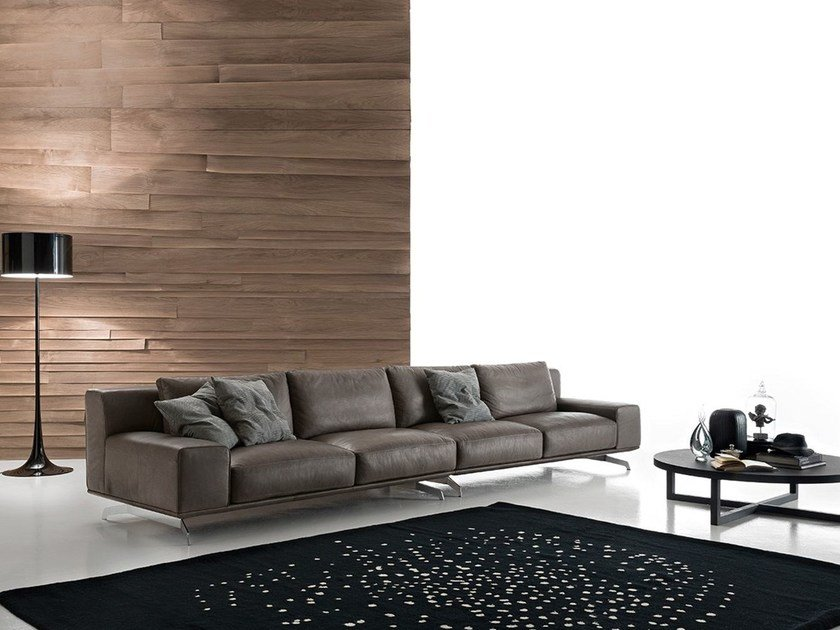 Sectional imitation leather sofa DALTON LEATHER | Sectional sofa by Ditre Italia