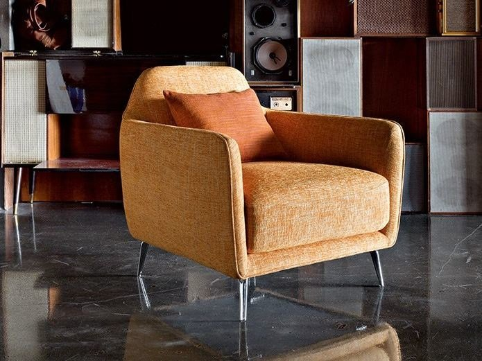 Fabric armchair with armrests ELLIE by Ditre Italia