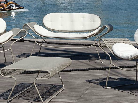 2 seater steel sofa SWELL | Sofa by Talenti