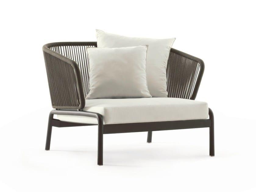 Stainless steel garden armchair SPOOL | Garden armchair by RODA