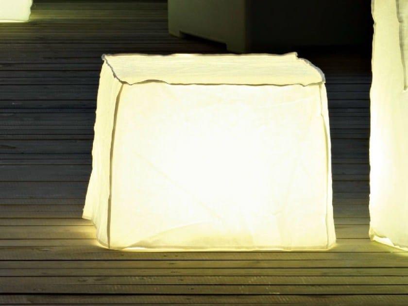 Low polyethylene stool with light INOUT 108L by Gervasoni