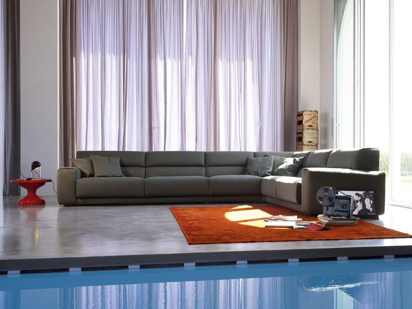 Sectional fabric sofa BOOMAN | Corner sofa by Ditre Italia