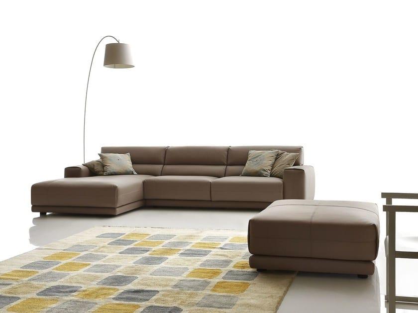 Sectional imitation leather sofa BOOMAN LEATHER | Corner sofa by Ditre Italia