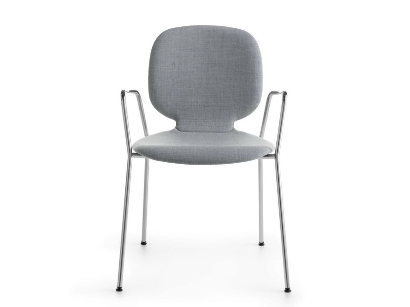 Upholstered stackable chair with armrests ALIS P | Upholstered chair by Crassevig