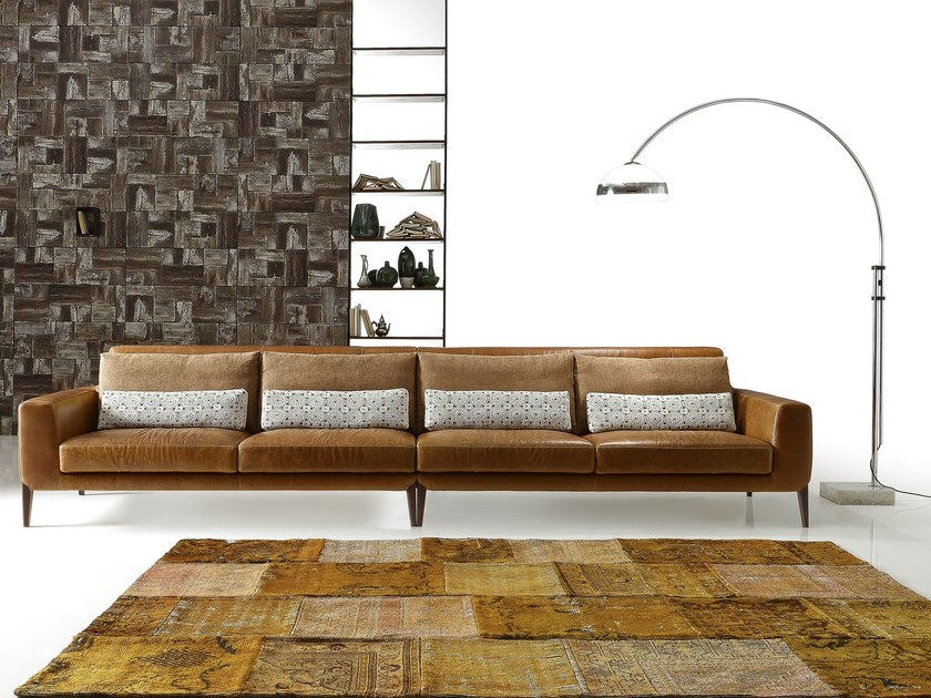 Sectional imitation leather sofa MILLER LEATHER | Sectional sofa by Ditre Italia
