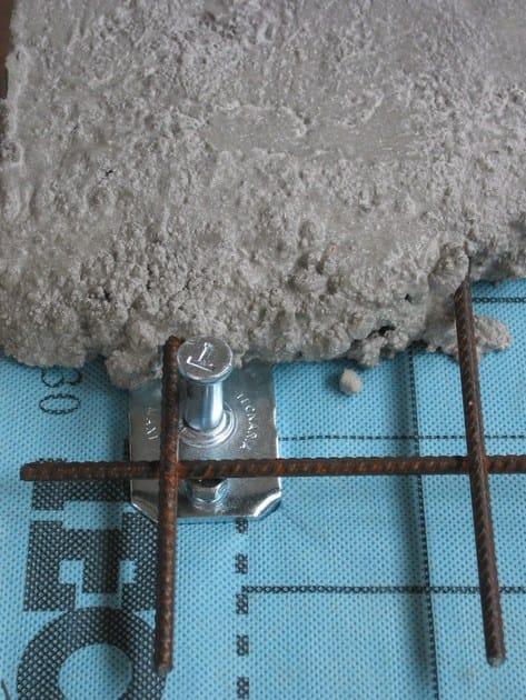 Dettaglio su Connettore CTL MAXI con getto di calcestruzzo collaborante