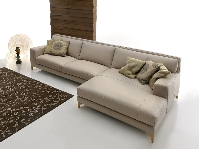 Sectional imitation leather sofa MORRISON LEATHER by Ditre Italia