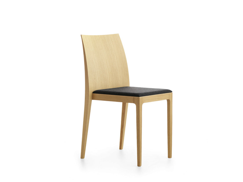 Upholstered stackable wooden chair ANNA RS   Upholstered chair by Crassevig