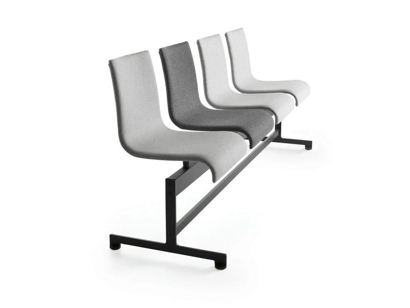 Powder coated steel beam seating ASIA BA | Beam seating by Crassevig
