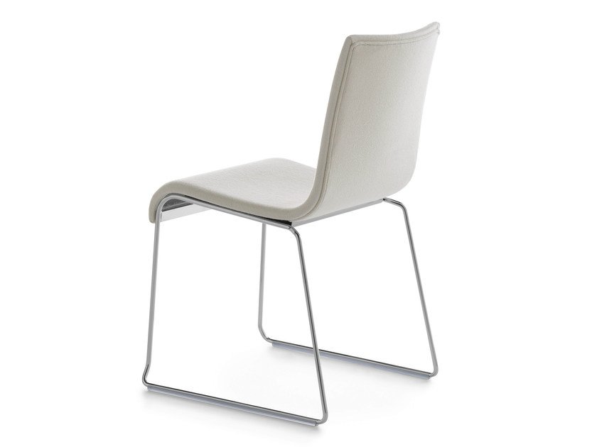Sled base upholstered stackable chair ASIA 2001 R | Sled base chair by Crassevig