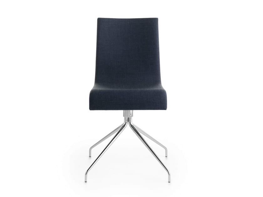 Upholstered trestle-based chair ASIA R | Trestle-based chair by Crassevig