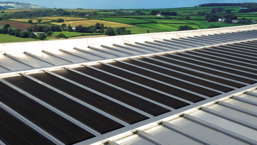 Metal sheet and panel for roof DRYTEC® 550 SOLAR FLEX by CENTROMETAL