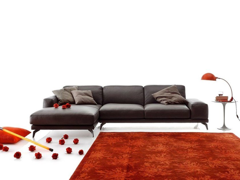 Sectional imitation leather sofa SHADE LEATHER by Ditre Italia