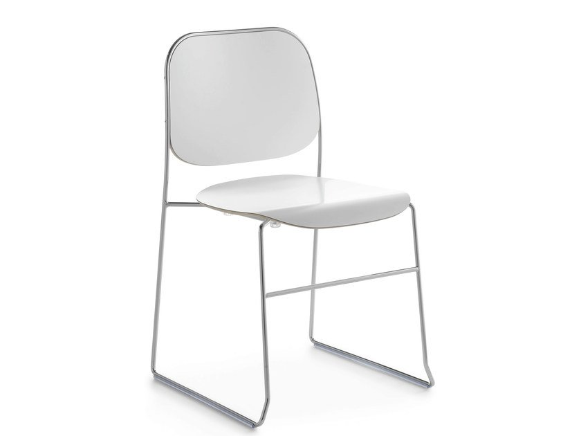 Sled base stackable chair BAY R   Sled base chair by Crassevig