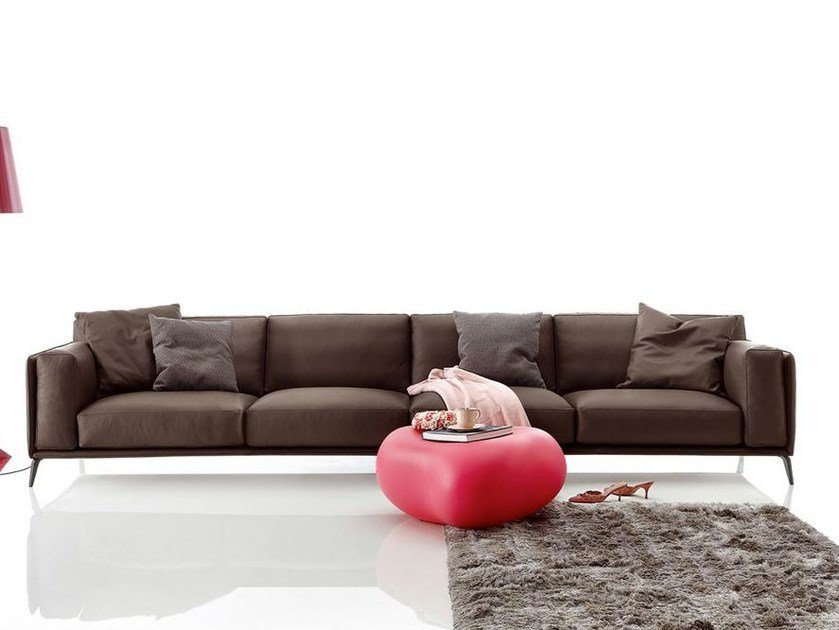 Sectional imitation leather sofa KRIS LEATHER LOW by Ditre Italia