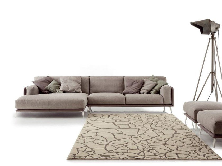 Sectional imitation leather sofa KRIS MIX by Ditre Italia