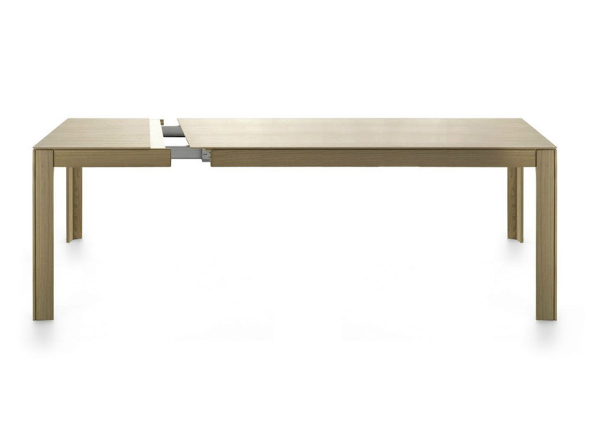 Rectangular wooden table NARA 200-250 by Crassevig