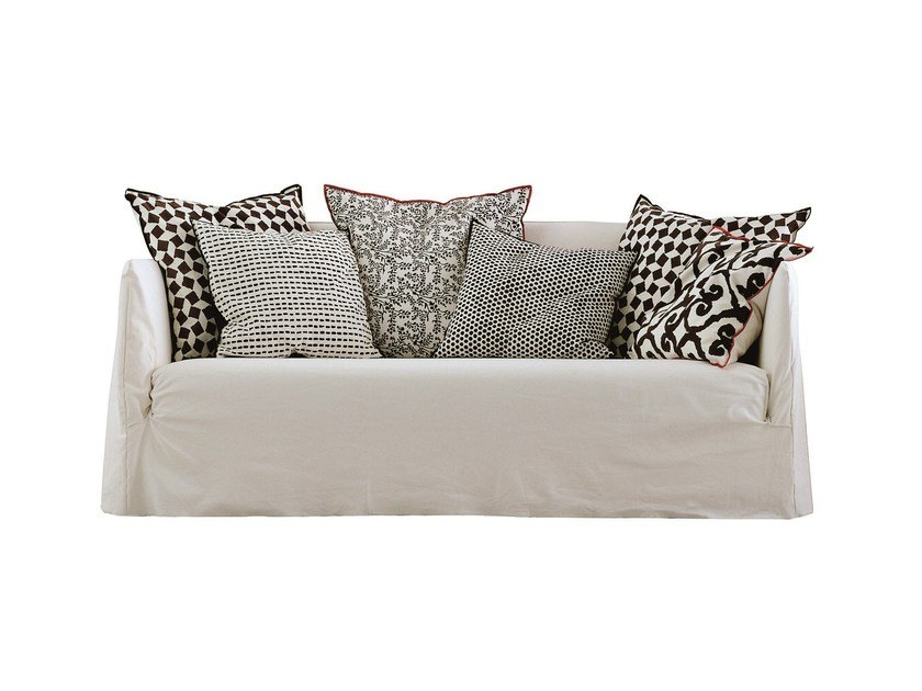 3 seater sofa with removable cover GHOST 10 by Gervasoni