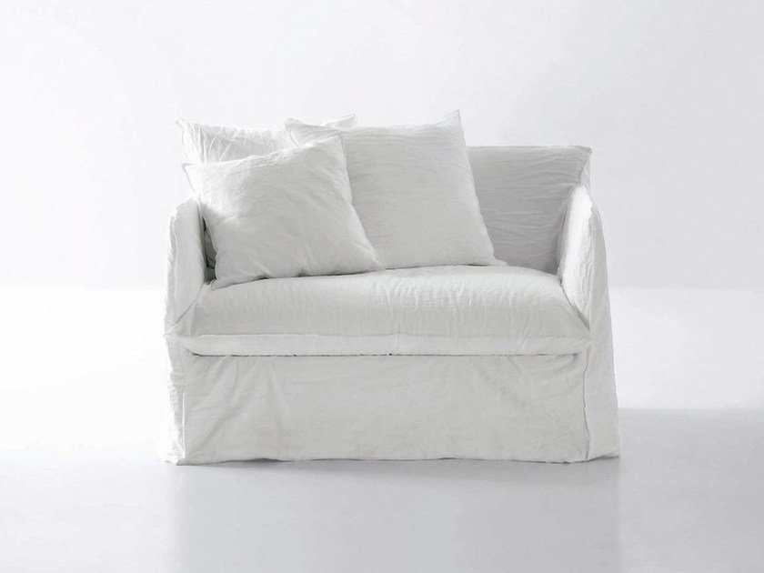 Armchair bed with removable cover GHOST 11 by Gervasoni