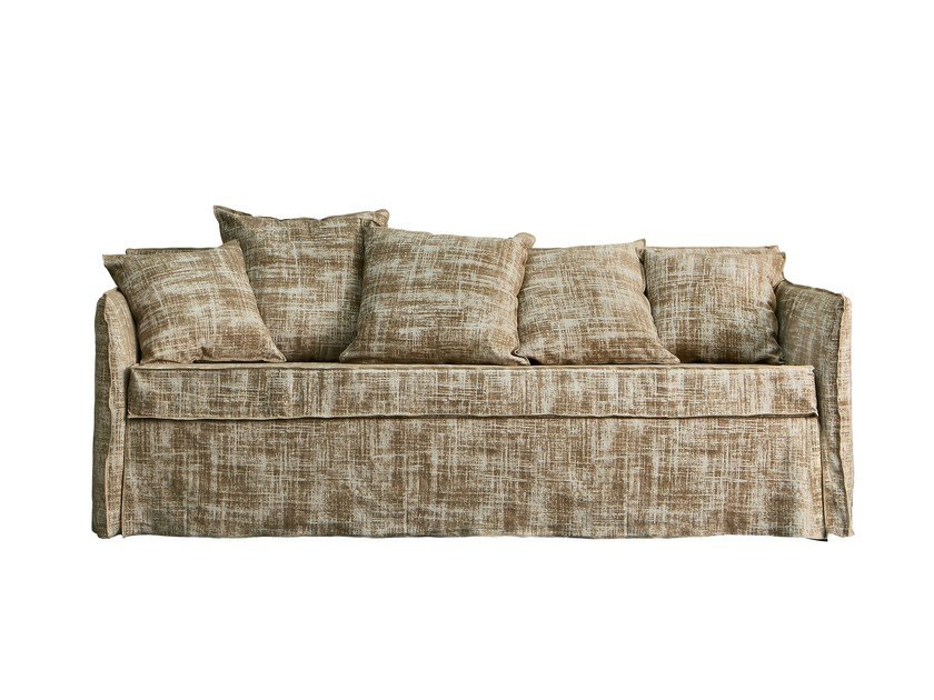 4 seater sofa bed with removable cover GHOST 19 by Gervasoni