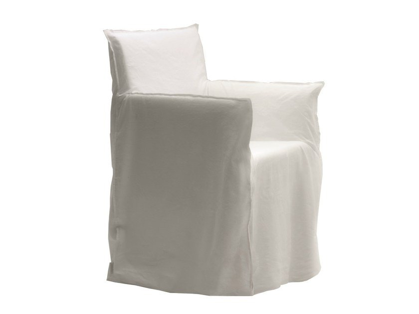 Fabric easy chair with removable cover GHOST 24 by Gervasoni
