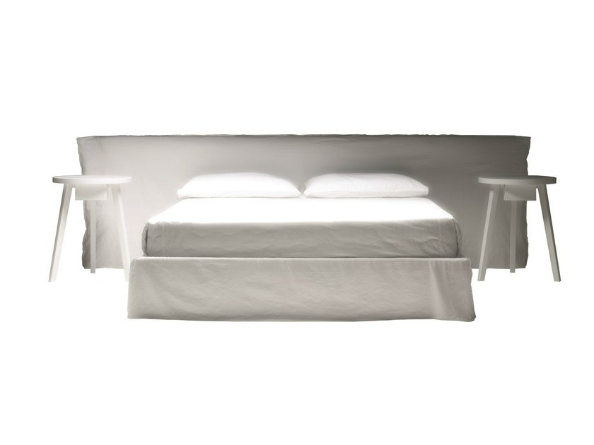 Double bed with removable cover GHOST 81 by Gervasoni