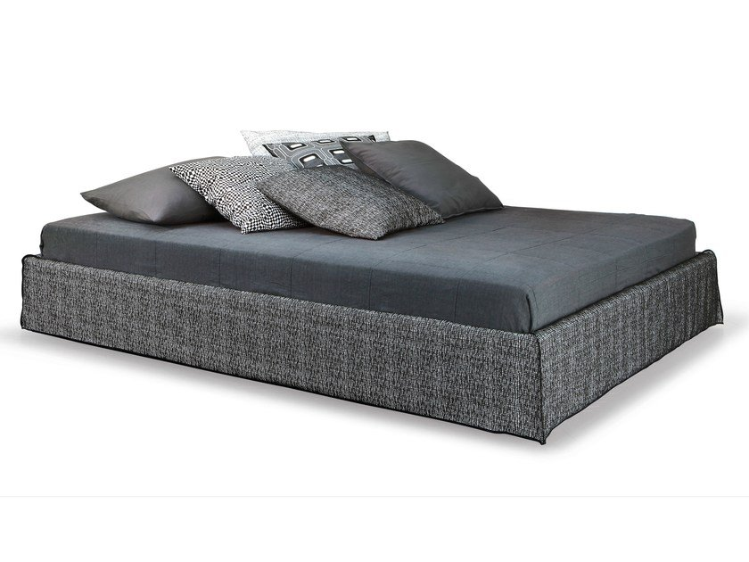 Double bed with removable cover GHOST 80 EL by Gervasoni