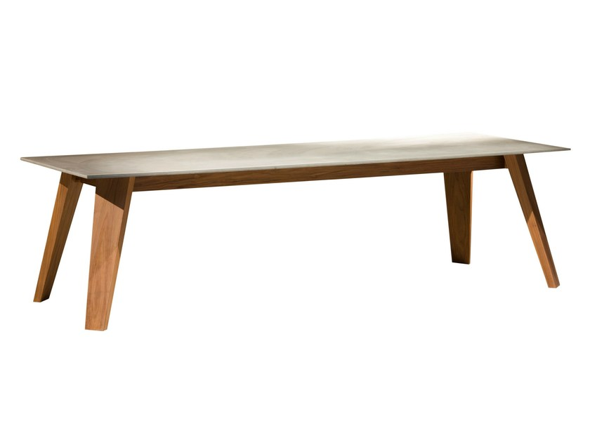 Rectangular walnut table SWEET 33 by Gervasoni