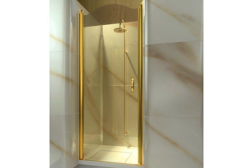 Niche custom tempered glass shower cabin GOLD AL by VISMARAVETRO