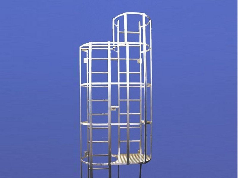 Fire escape staircase / Metal fire escape staircase Hooped ladder by SVELT