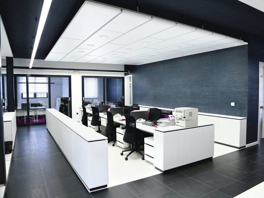 Acoustic ceiling tiles Ecophon Master™ Matrix by Saint-Gobain ECOPHON