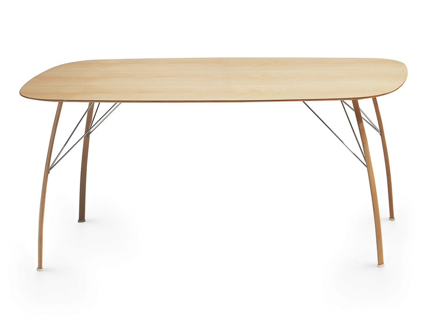 Wooden table SOSPESO O by Crassevig