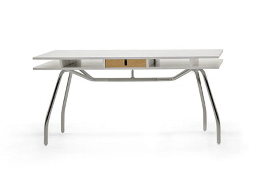 Lacquered office desk with drawers WORKTOP 150 by Crassevig