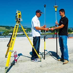 Topographic surveying mobile device (palmtop) MERCURIO by Topcon
