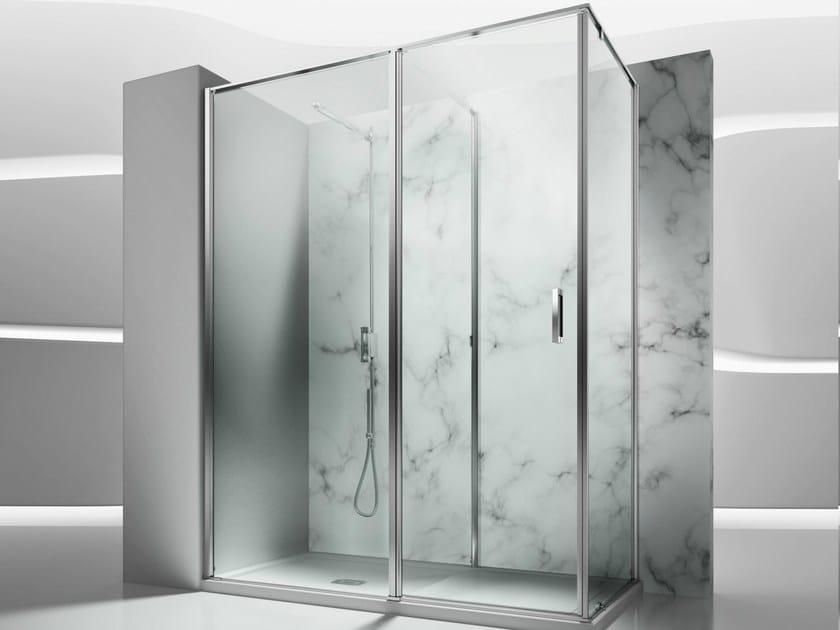 Corner tempered glass shower cabin IN 2 by VISMARAVETRO
