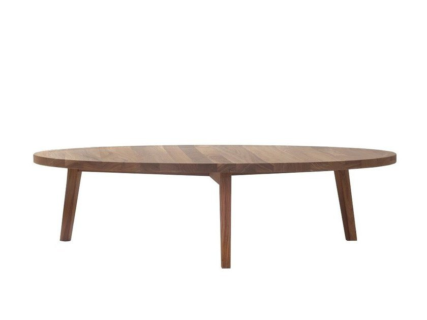 Low round wooden coffee table GRAY 49 by Gervasoni