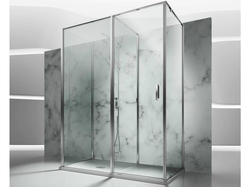 Custom tempered glass shower cabin IN 3 by VISMARAVETRO