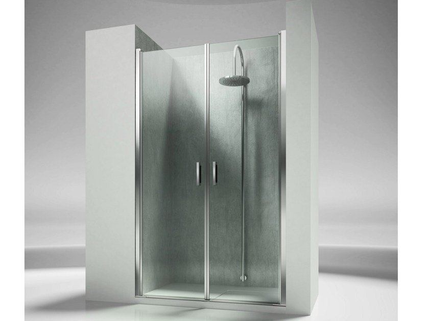 Niche custom tempered glass shower cabin LINEA LB by VISMARAVETRO