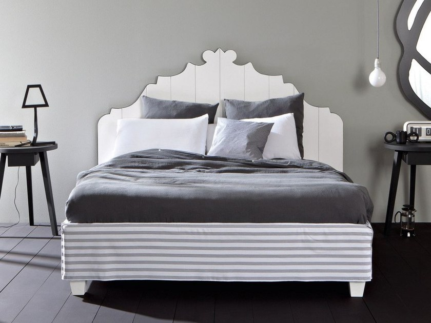 Double bed with removable cover GRAY 80 by Gervasoni