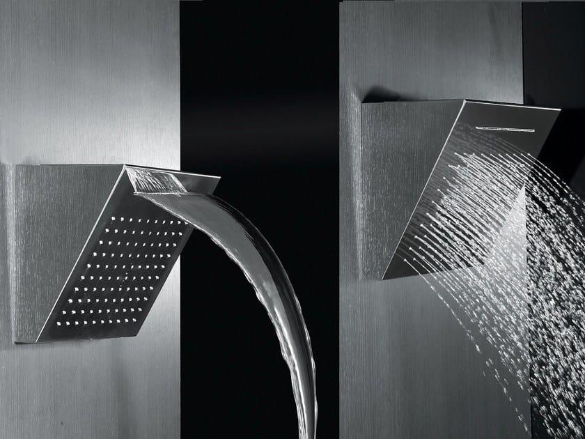 Design wall-mounted steel waterfall shower SHOWER 2014 by Rubinetteria Giulini