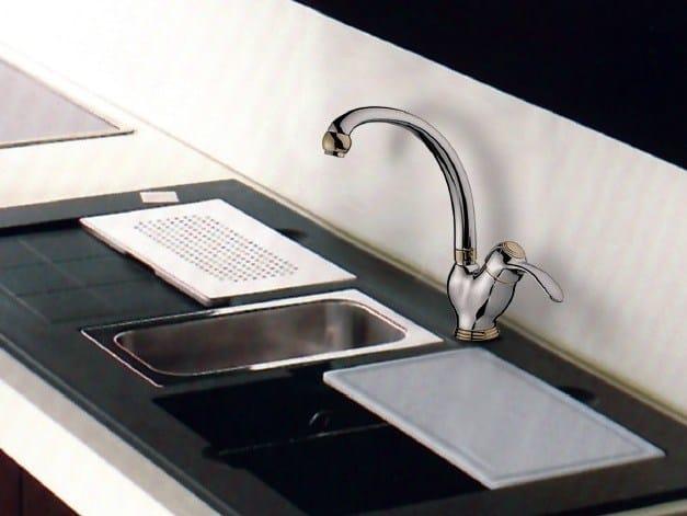 Countertop kitchen mixer tap with swivel spout CUCINA MONOCOMANDO   Kitchen mixer tap by Rubinetteria Giulini