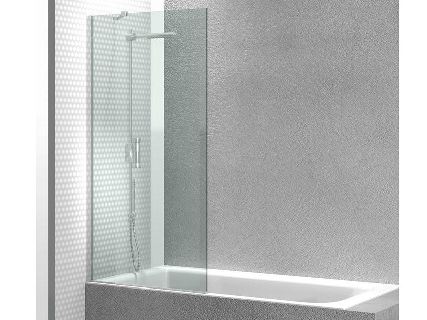 Tempered glass bathtub wall panel LINEA FB By VISMARAVETRO