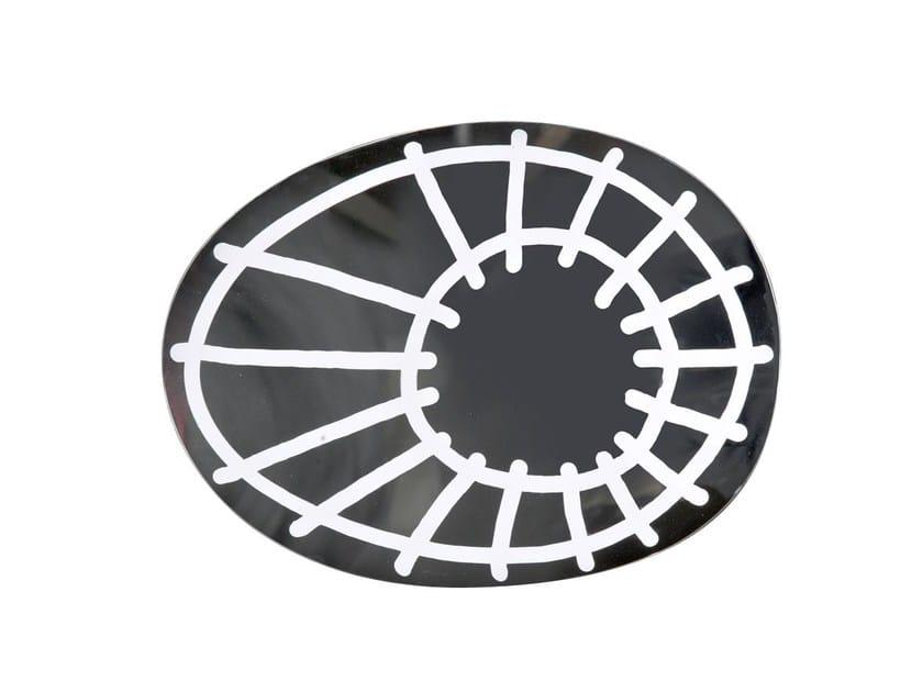 Wall-mounted oval mirror BRICK 97 by Gervasoni