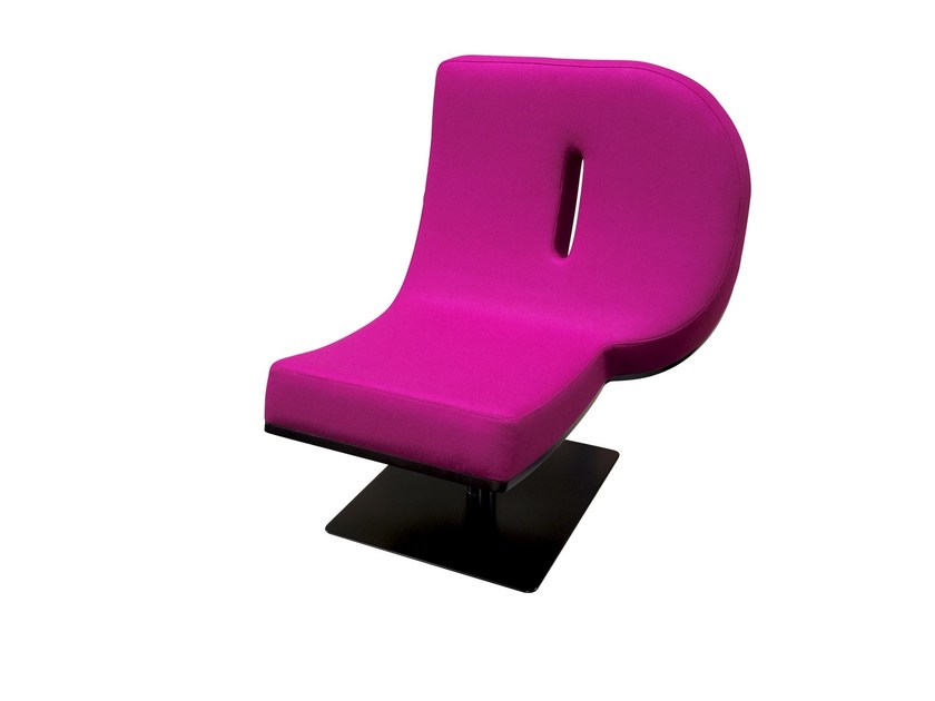 Upholstered easy chair TYPOGRAPHIA P by TABISSO