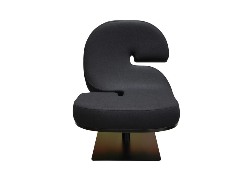 Upholstered easy chair TYPOGRAPHIA S by TABISSO