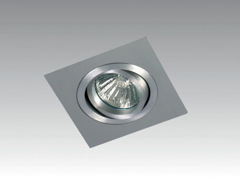 Adjustable ceiling recessed spotlight TRIO SQUARE by Orbit